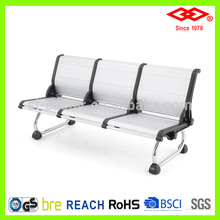 stainless steel 3-seater airport bus station waiting chair