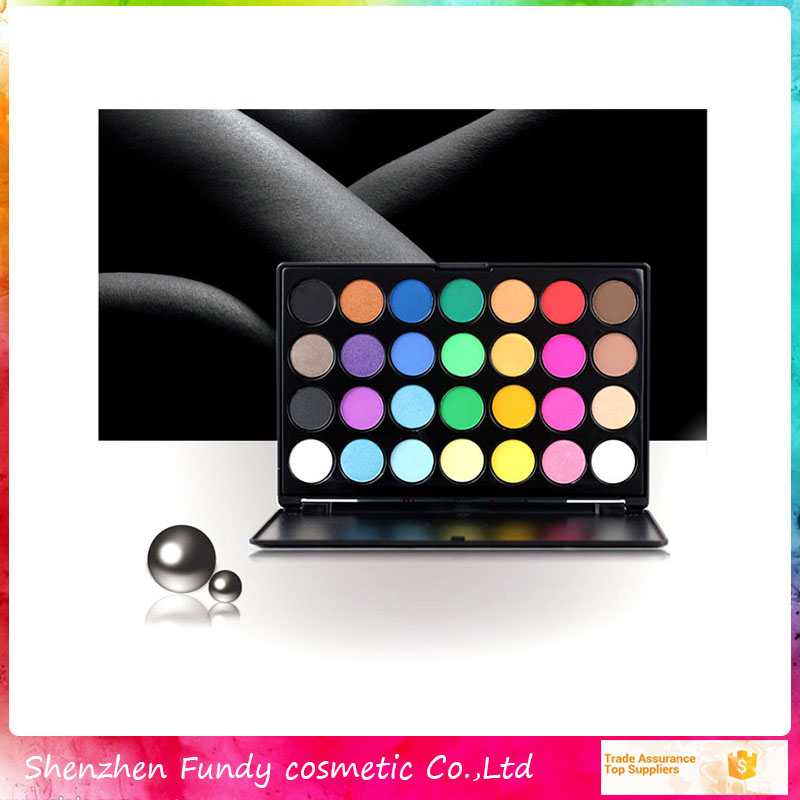 private label 28 earth tones eyeshadow palette mixed color eyeshadow palette