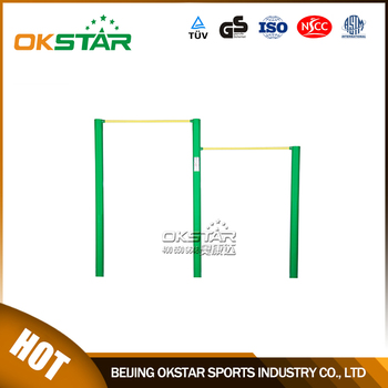 High Gavalnized Outdoor Gymnastic Bar For Adult Exercise