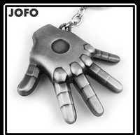 Iron Man Style Simple Strong hand Shape Keychain Key Chain Ring Keyring Keyfob Key Holder