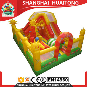 jumping bouncy outdoor playground kids /adults bouncy castle cartoon golden sun inflatable bouncer