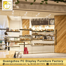 professional custom bakery shop counter design wood bread display rack bread display stand for bakery shop