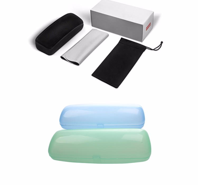 High quality YNJN custom logo soft hard PU leather plastic sunglasses case