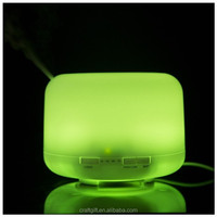 Discount home 500ml color changing led ultrasonic mini spray air freshener