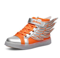 LED Shoes Kids USB Charging Light Up For Boy And Girl Children Casual Sneakers Toddler To Big Kid Sport Shoes 1557