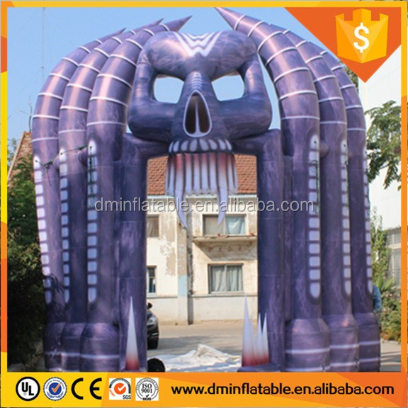 13ft halloween arch inflatable/halloween inflatable arch S2017
