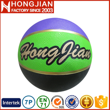 HB010 quality hot sale rubber patterned basketball