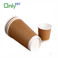 Cheap logo printed 16oz disposable hot /cold coffee paper cup