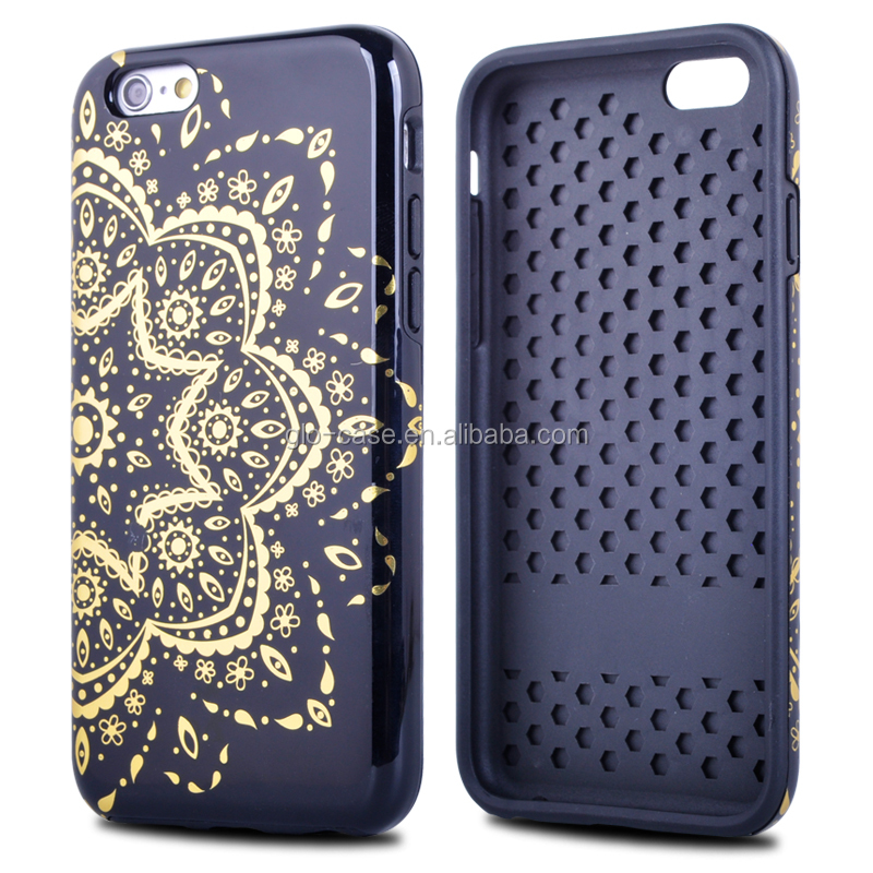 Hybrid TPU and PC Covers for iPhone 6 Dual Layer Case