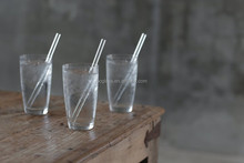 Health drinking glass pipette, reuse glass straw, color glass pipette custom
