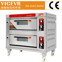 Competitive price gas baking deck oven with stone and steamer (manufacturer)