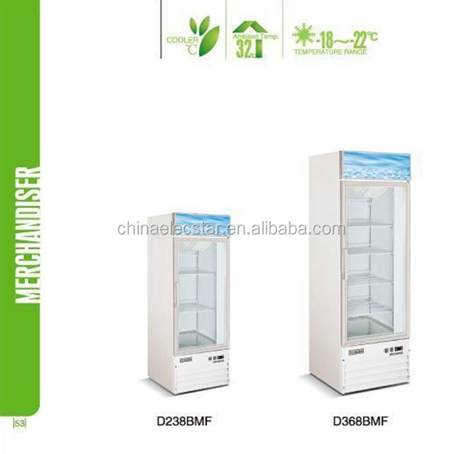 Commercial Supermarket Merchandiser Display Refrigerator, Glass Door fridge, Merchandiser refrigerator
