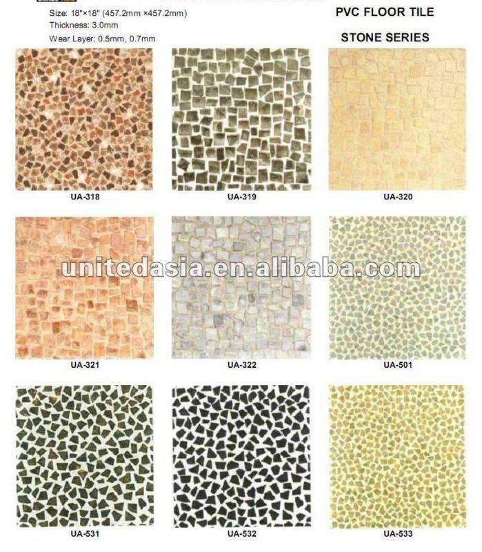 Baldosas Baño Vinilo:Antideslizante piso de vinilo baldosas para el baño-Suelos de