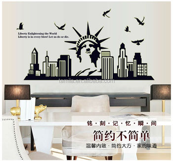 Home Decorative Glowing Sticker Statue Of Liberty Decoration Wall Sticker Part 55