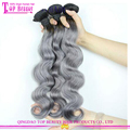 Grey color virgin brazilian hair 100% virgin human hair extenisons virgin brazilian hair hot sale virgin brazilian hair