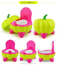 High Quality Plastic Pumpkin Modelling New Style Baby Seat Children's Toilet Seat Baby Potty Chair