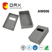 IP67 waterproof Aluminum box aluminium enclosure for electrical industry with plastic window