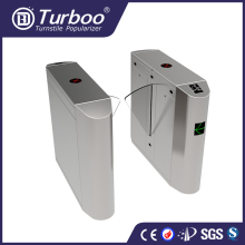 automatic optical pedestrian flap gate turnstile with barcode reader