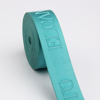 Custom woven jacquard ribbon/webbing with logo for bag