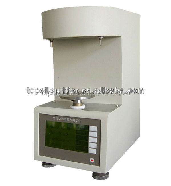ASTM D971 Platinum ring method Automatic surface / interfacial tension test equipment model IT-800, LCD display