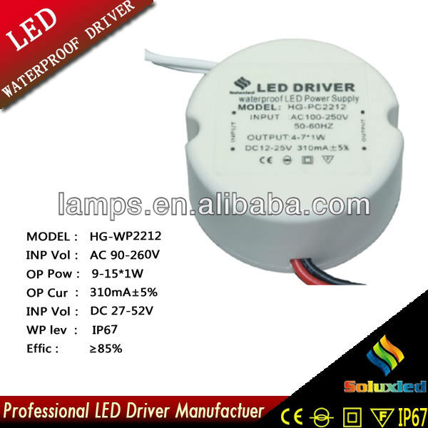 HG-PC2212 LED driver lamps driver 9-15*1W