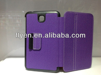 New Folding Folio cute case purple cowboy style Leather Stand Cover Case For Samsung Galaxy Tab 3 7.0 inch T210