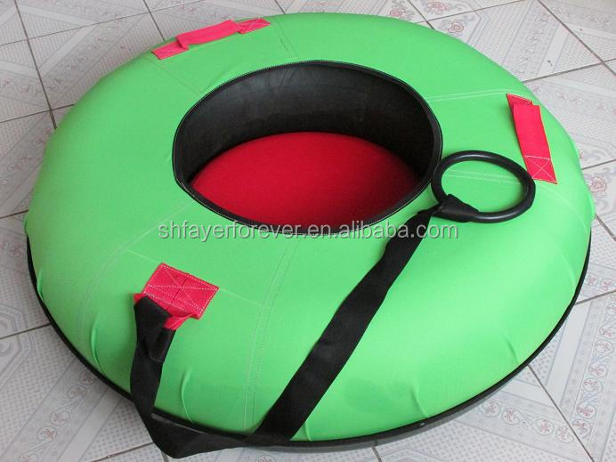 Premium Heavy Duty Snow Tube 100cm HDPE Bottom 55cm Inner Size 25CM Height with Green Cover