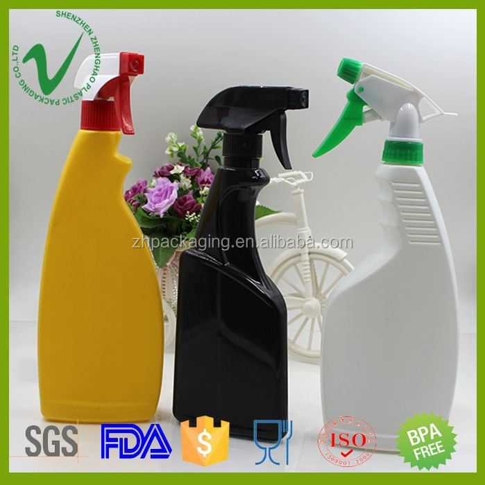 HDPE promotional SGS approved OEM custom empty trigger sprayer dishwashing detergent plastic bottle for household use