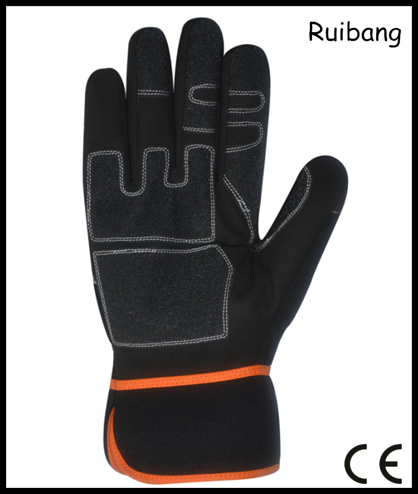 High quality synthetic leather 3M Thinsulate lining winter mechanic gloves