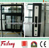 aluminium frame sliding window with external handle & lock AS2047