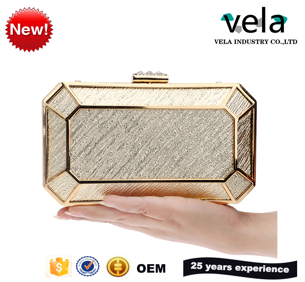 Foreign Trade Fashion Personality Ladies Evening Bags High-End Banquet Bride Hand Bag Beautiful Folds Metal Clutch Bag