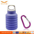 Unique hiking foldable collapsible silicone water bottle