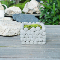 Cement Home Garden Decor Stone Flower
