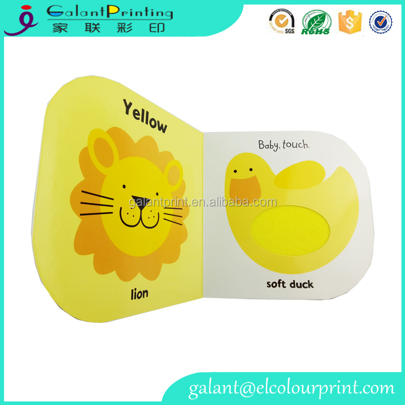 Custom cartoon picture board book printing for children kids learning
