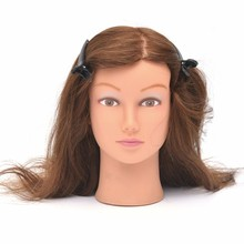 Wholesale female mannequin head human hair hair practice head hairdresser doll