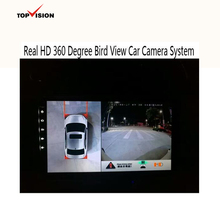 Real HD 720P 360 degree surround bird view car surveillance camera system