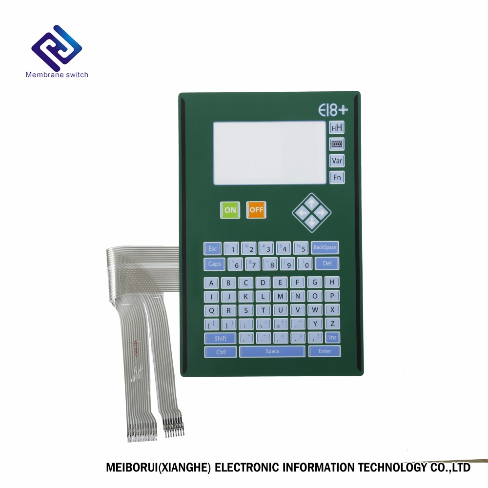 Membrane switch panel on instrumentation indicator can be customized
