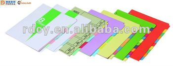 Best sell Paper Index Dividers,paper tabs