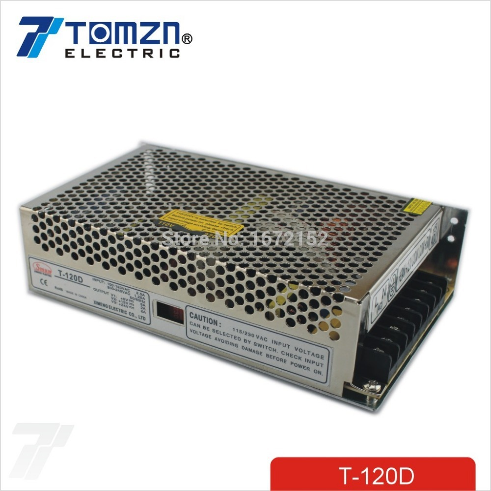 120W <strong>D</strong> Triple output 5V 12V 24V Switching power supply smps AC to DC SMPS