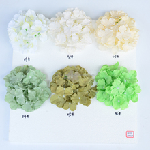 High quality silk flowers multicolor artificial flower hydrangea heads for decor wholesale