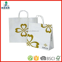 customized printed logo recyclable gift paper bag/shopping bags with paper handle (YC3131)