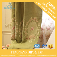 Fashions design decoration curtain for living room embroidery style fabric for curtain window shades drapes curtain