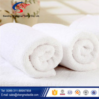 2016 new design and customized size white hotel towel