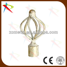 Chinese supplier offer wrought Iron curtain rod finial