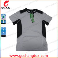 Casual simple quick dry sports t shirts in black white color