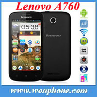 Hot Selling !Brand New Lenovo A760 4.5 Inch IPS Capacitive Touch Screen Snapdragon Quad Core Android 4.1 3G smartphone