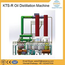 Waste Tire Oil Recycling Machine Used Pyrolysis Oil Distillation Plant