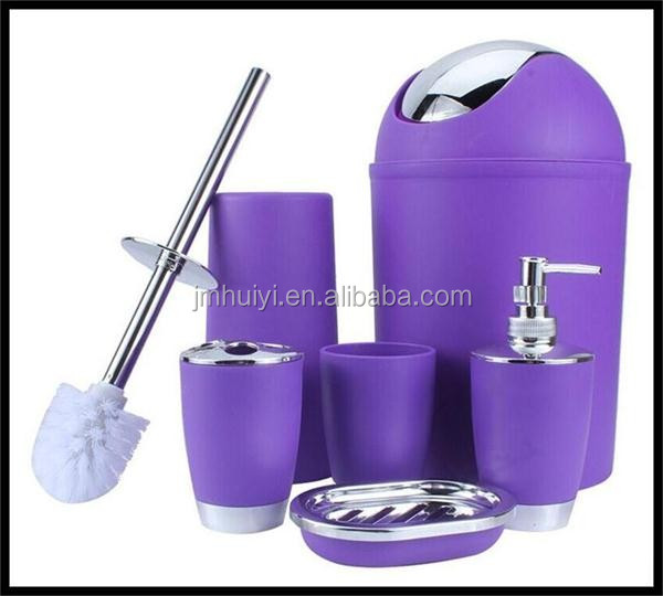 6 Pieces Bathroom Accessories Sets Tumbler Toothbrush Holder Dispenser bath Decoration Bathroom Sets