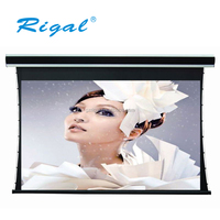 150'' Luxury Tab Tensioned Screen/Arc Tensioned Projector Screen/Motorized Tab Tensioned Screen with luxury remote control