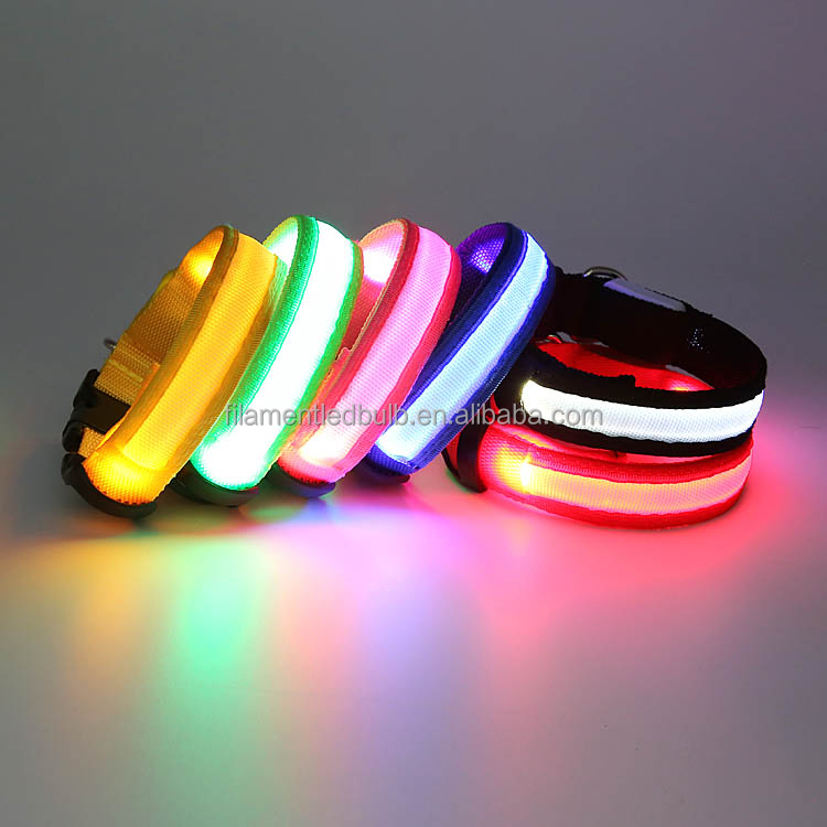 many models!!best selling dog collar Flashing glow dod products Led usb rechargeable flashing dog collar ,glow pet led collar